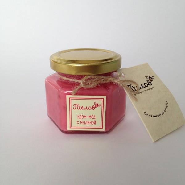 Крем-мёд с малиной, 0,1 л.