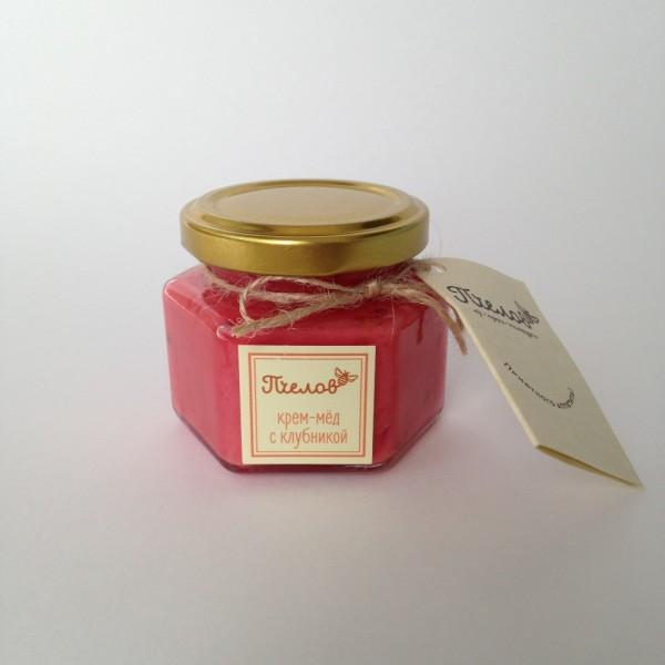 Крем-мёд с клубникой, 170гр.