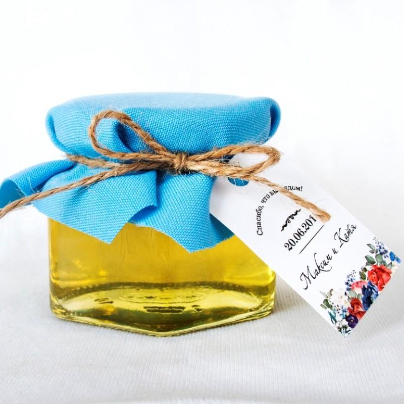 Подарки мед в баночке 931
